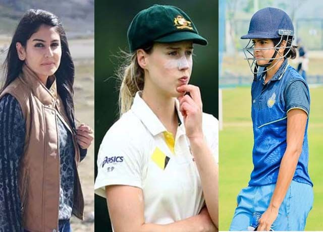 beautiful woman cricketer