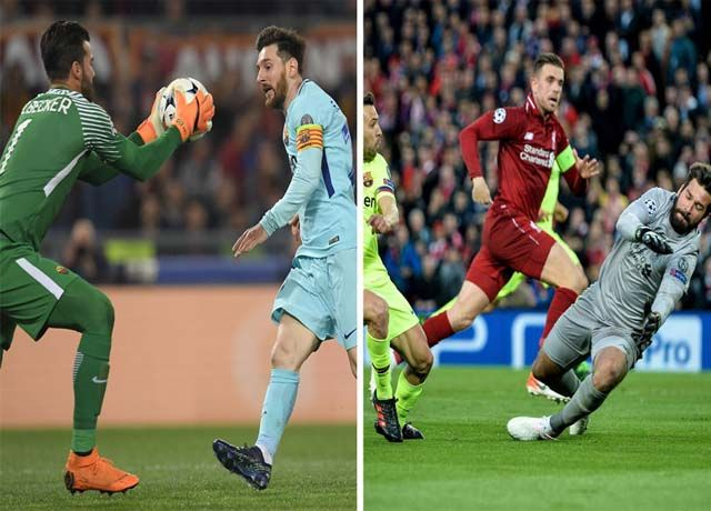 Alisson Becker and messi