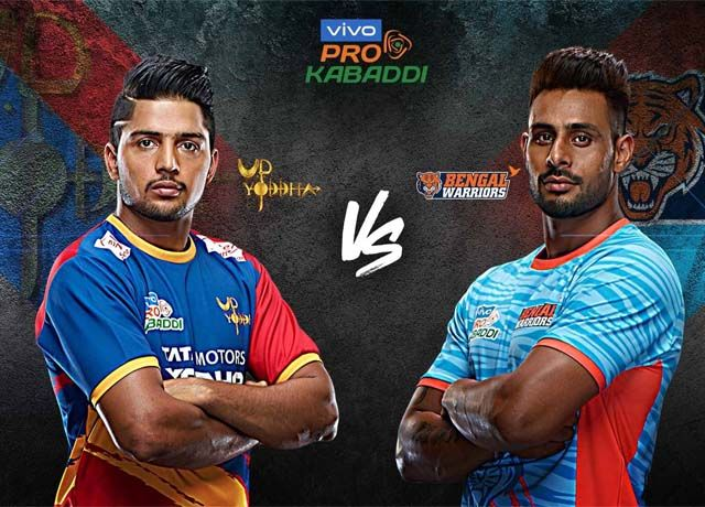Pro Kabaddi 2019 : UP Yoddha vs Bengal Warriors live score