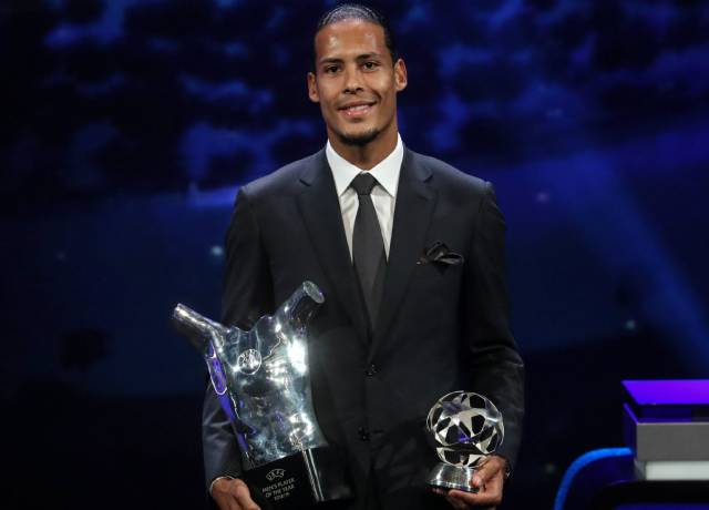 Van Dijk beat Ronaldo and Messi in UEFA Men's Player of the Year