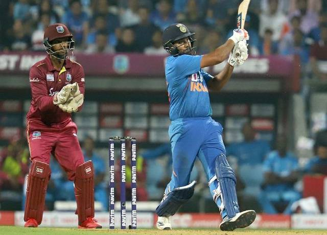 rohit sharma becomes first Indian to hit 400 international sixes