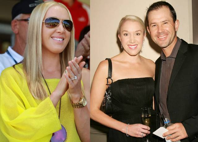 Australia's great cricketer Ricky Ponting's wife is no less than a nymph