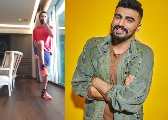 Arjun Kapoor troll Virat Kohli's on his aces 180-degree step landing in first attempt