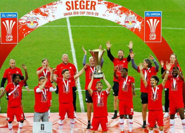 Salzburg Football Club won the Austrian Cup for the 7th time, beating Lustenau in the title match